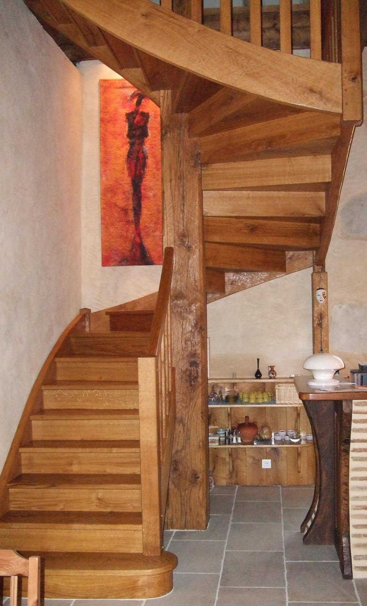 bonhoure et cope escaliers bois. Black Bedroom Furniture Sets. Home Design Ideas