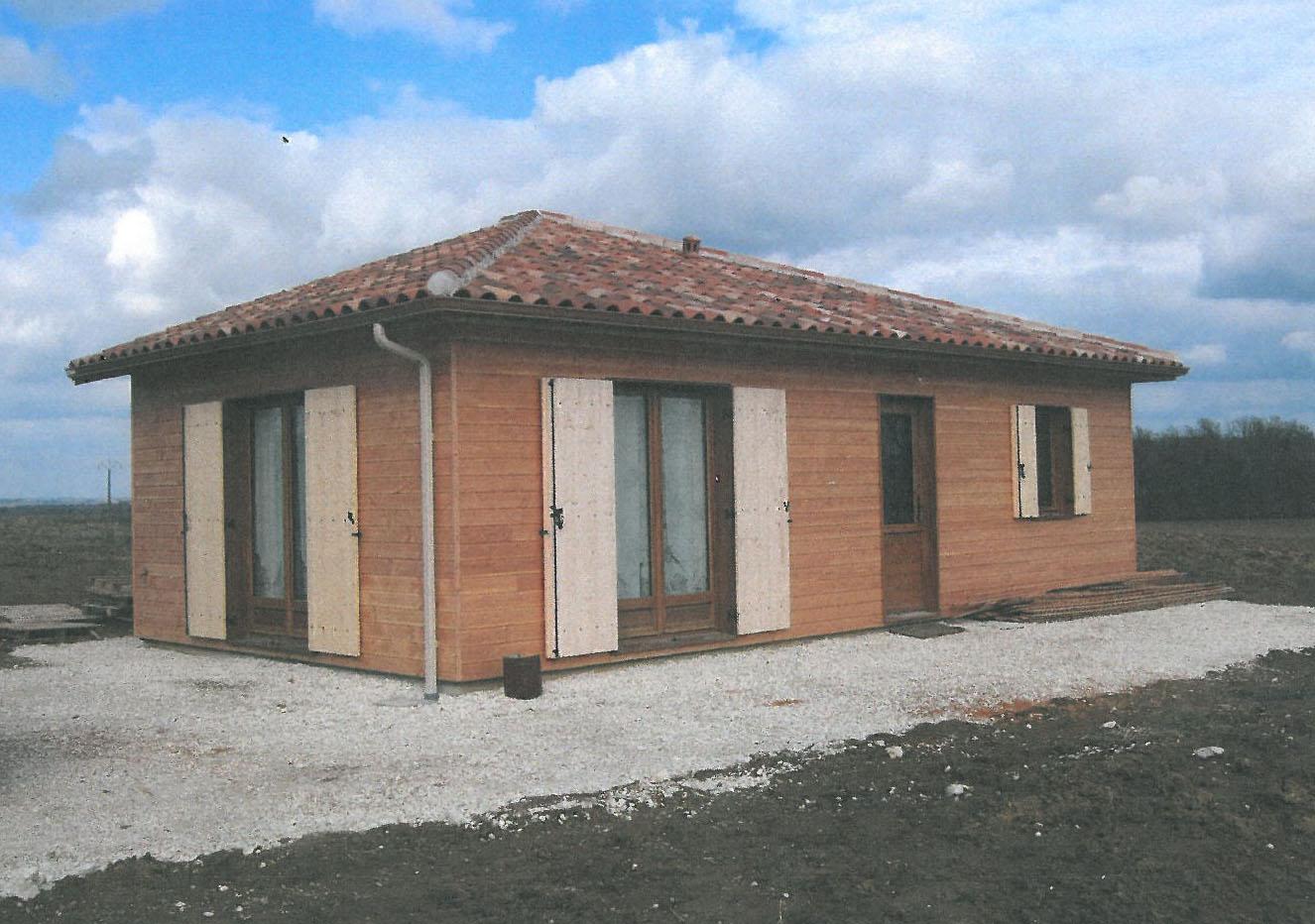 Bardage maison ossature bois perfect with bardage maison for Bardage maison ossature bois
