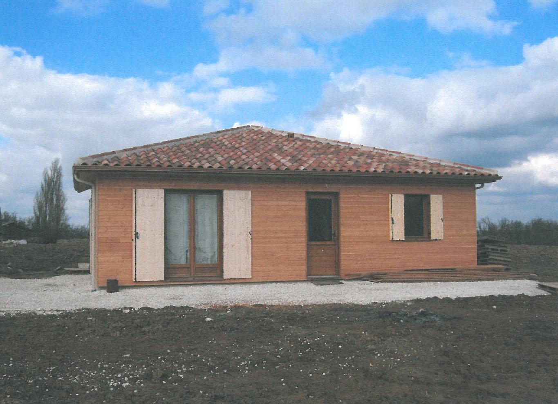 Bonhoure et cope maison ossature bois for Bardage maison ossature bois